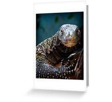 A Crocodile Monitor Portrait Greeting Card