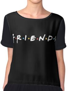 Friends Logo (white) Chiffon Top