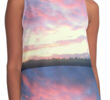 Beautiful Water-colour Style Sunrise Contrast Tank
