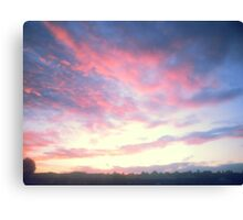 Beautiful Water-colour Style Sunrise Canvas Print