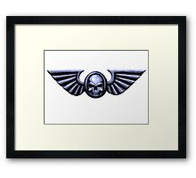 Imperial Skull and Wings Silver Framed Print