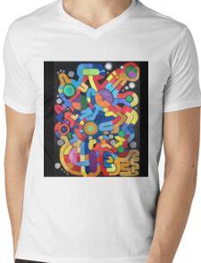 Fruit lines Mens V-Neck T-Shirt