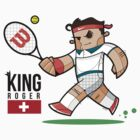 Roger Federer  T-Shirt by Diego Riselli