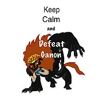 Keep calm & defeat Ganon Photographic Print