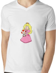 Princess Toadstool Mens V-Neck T-Shirt