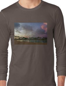 Tropical Sky and Palm Trees - Impressions of Hawaii Long Sleeve T-Shirt