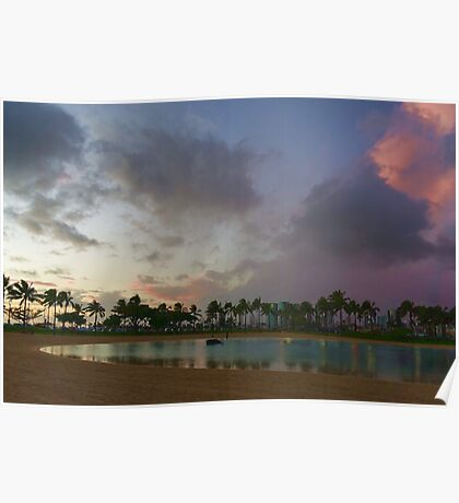 Tropical Sky and Palm Trees - Impressions of Hawaii Poster