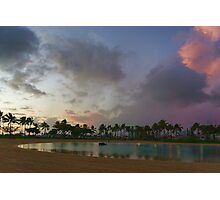 Tropical Sky and Palm Trees - Impressions of Hawaii Photographic Print