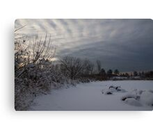 Clearing Snowstorm Canvas Print
