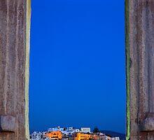 The Chora & the Portara - Naxos island by Hercules Milas
