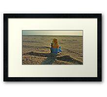 Lego Mermaid at the Beach Framed Print