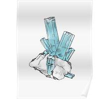 Aquamarine Gemstone Poster