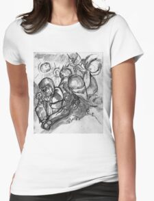 Bowoop and fey watch Cognac play chess Womens Fitted T-Shirt