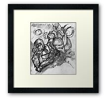 Bowoop and fey watch Cognac play chess Framed Print