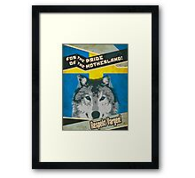 Respect The Wolf Framed Print