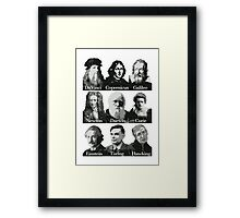 The Apostles of Science Framed Print
