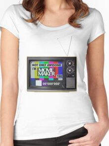 Movie Maker  Women's Fitted Scoop T-Shirt