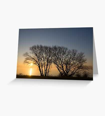 Peaceful Blues and Golds  Greeting Card