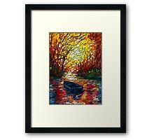 Impression Sunset by Lena Owens Framed Print