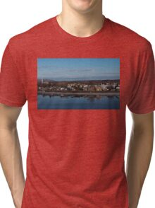 Ottawa River Panorama at Dawn - Still, Cold and Quiet Tri-blend T-Shirt