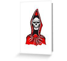 Death hooded robe evil sunglasses Greeting Card