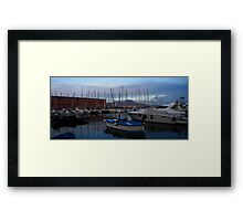Vesuvius and the Boats II Framed Print