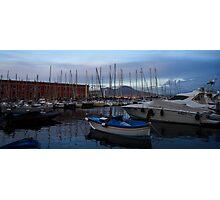 Vesuvius and the Boats II Photographic Print