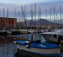 Vesuvius and the Boats II Sticker