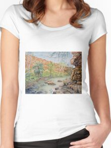 Amalia Gorge, El Questro, Kimberly Women's Fitted Scoop T-Shirt