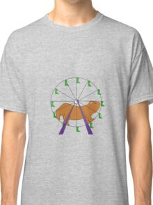 Hamster on a ferris wheel Classic T-Shirt
