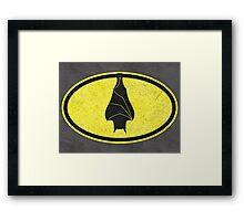 Good Night, Mr Bat! Framed Print
