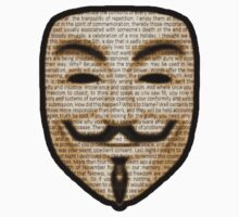 Anonymous - V for Vendetta Kids Clothes