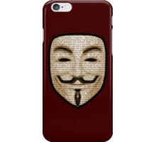 Anonymous - V for Vendetta iPhone Case/Skin