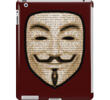 Anonymous - V for Vendetta iPad Case/Skin
