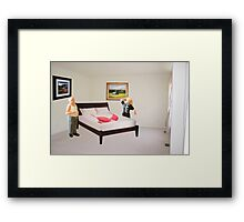 To dispel the idea I never listen to you-SURPRISE..here's that mammory foam mattress you wanted. Framed Print