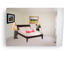 To dispel the idea I never listen to you-SURPRISE..here's that mammory foam mattress you wanted. Metal Print