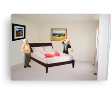 To dispel the idea I never listen to you-SURPRISE..here's that mammory foam mattress you wanted. Canvas Print