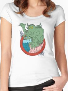 Hello Cthulhu Women's Fitted Scoop T-Shirt