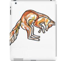 Geometric Leaping Fox iPad Case/Skin