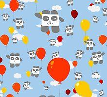 Sky Panda Pattern by OneWeirdDude