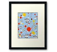 Sky Panda Pattern Framed Print