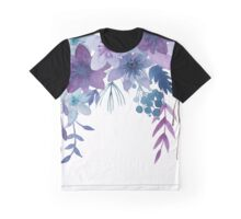 Blue Purple Flowers Graphic T-Shirt