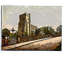 A digital painting of St Mary the Virgin Church at Battle, East Sussex, England founded CE1115 Photographic Print