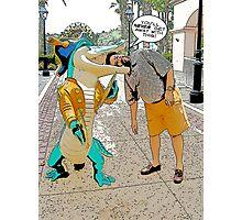 Crocodile Cartoon Photographic Print