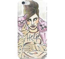 Retro Cara Delevingne illustration  iPhone Case/Skin