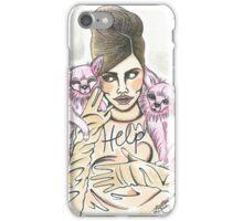 Retro Cara Delevingne illustration  iPhone Case/Skin