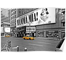 NYC Yellow Cabs Mamma Mia Poster