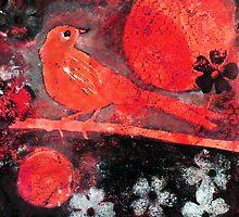 """Red Moon Bird by Belinda """"BillyLee"""" NYE (Printmaker)"""