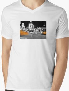 NYC Yellow Cabs Carriage Mens V-Neck T-Shirt