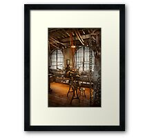 Machinist - The crowded workshop Framed Print